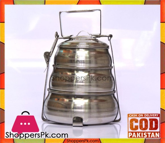 Stainless Steel Indian Three Steps Lunchbox