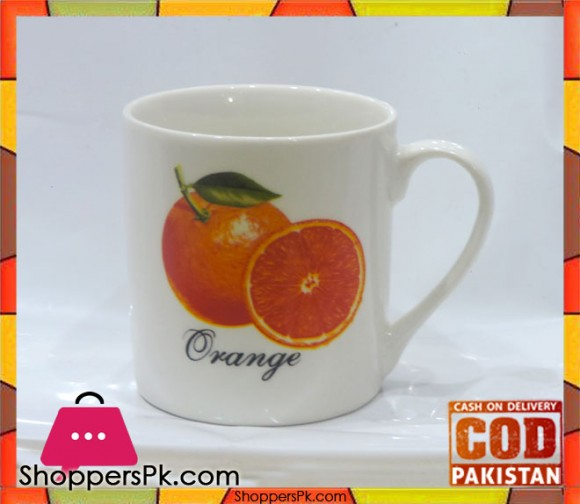 Tea Cup Orange Print Six Pieces Set