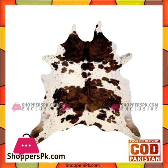 Tri Color Cowhide Rug - Multi Color