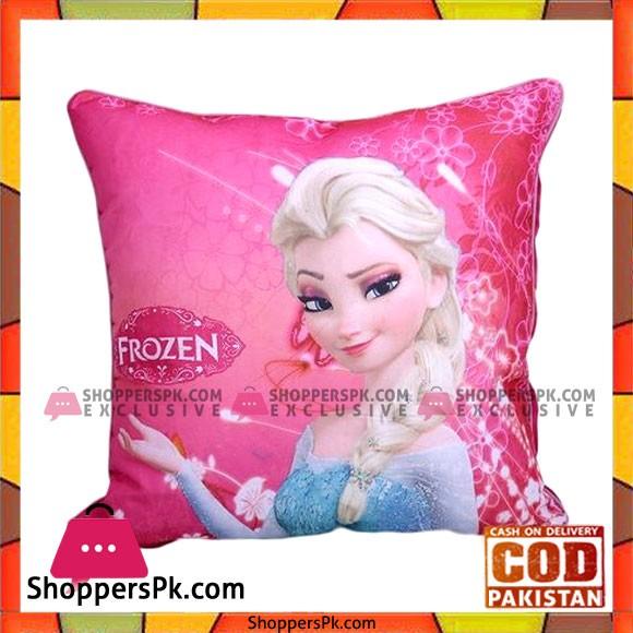 0002-15 - Cotton Printed Square Pillow - Multicolor