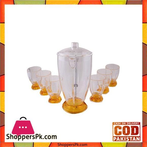 Acrylic Rocket Water Set - 7 Pcs - Yellow - BH0132AC