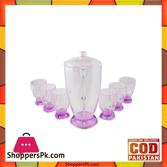 Acrylic Rocket Water Set - 7 Pcs - Purple - BH0132AC