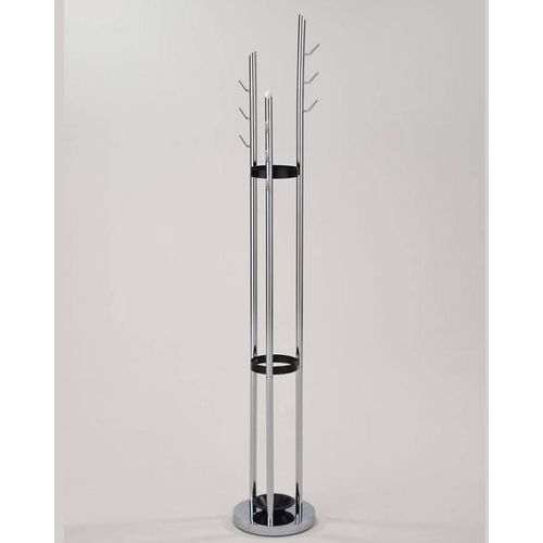 Stainless Steel Cloth Stand - Silver & Black
