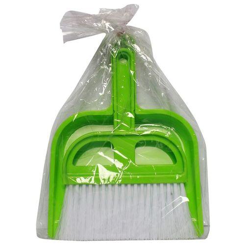 Dustpan brush - Plastic - Green