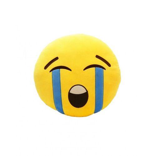 Cry Emoji Cushion - Yellow
