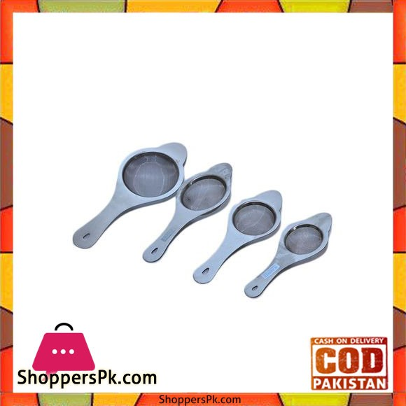 Pack of 4 - Tea Strainer - Silver
