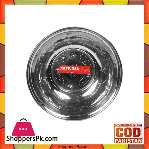 National Steel Vegetable Channi Stainless Steel Sifter - Silver