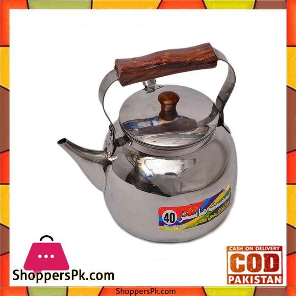 High Quality Silver Tea Kettle - 1.5 Litre