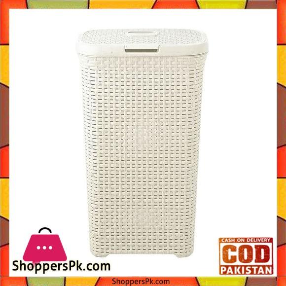 Laundry Basket Plastic - Off White