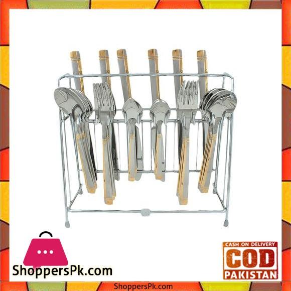 Elegant 24 Pieces Cutlery Set Germany - Silver - EL24S-07
