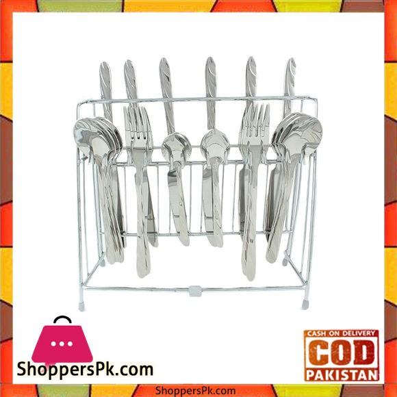 Elegant 24 Pieces Cutlery Set Germany - Silver - EL47