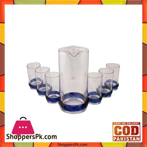 Acrylic Crystal Bracelet Acrylic Water Set -7 Pcs - Blue - BH0022AC