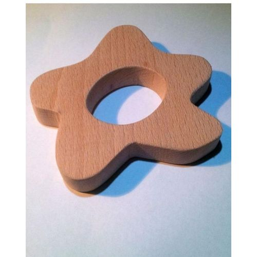 SHS Gifts Natural Wood Cookie Shaped Teether for babies