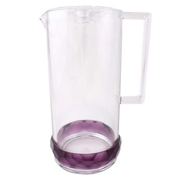 Acrylic Crystal Bracelet Acrylic Water Set - 7 Pcs - Purple - BH0022AC