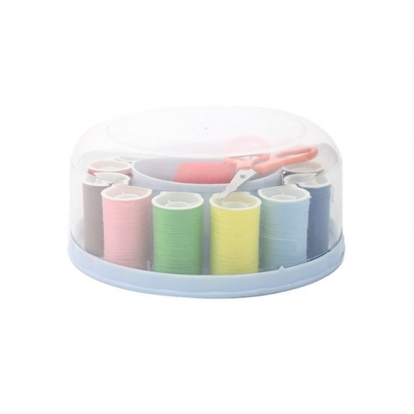 Home Needle & Thread Box - Blue