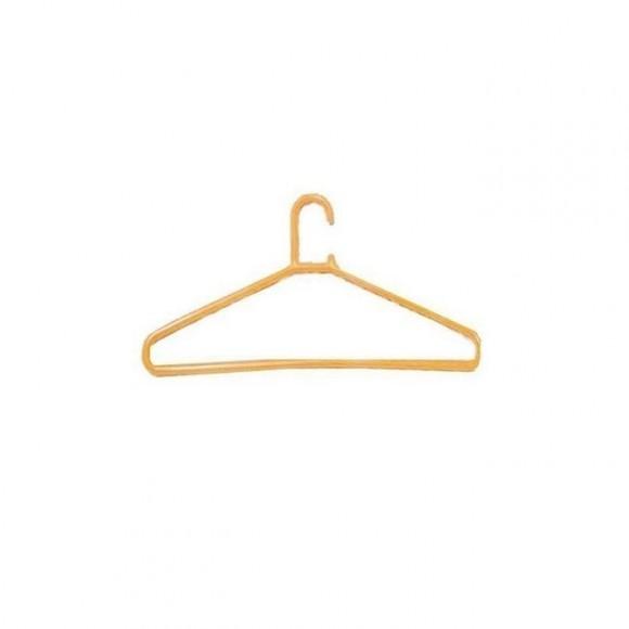 Yellow Plastic Clothe Hangers - 12 Pcs