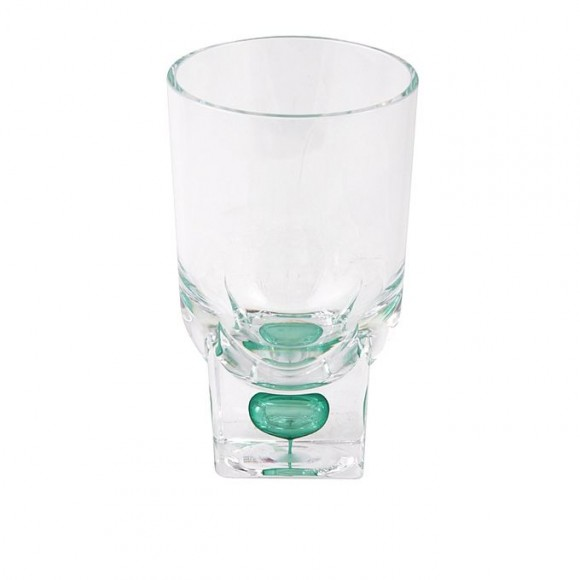 Acrylic Square Base Crystal Tumbler - Set 6 Pieces - Green - BH0015AC
