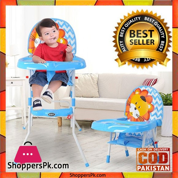 2 in 1 Premium Baby High Chair With Safety Belt Lion - 217c