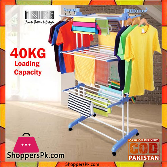 6c9b2d9f6ab Buy 3 Tier Foldable Drying Rack Cloth Laundry Hanger TW-116 at Best ...