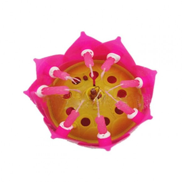 Ingenious Gadgets Happy Birthday Candle with Music & Magical Sparklers with Free Internal Battery - Large Pink Flower