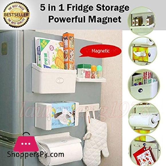 5 in 1 Fridge Magnetic Storage Shelf Set