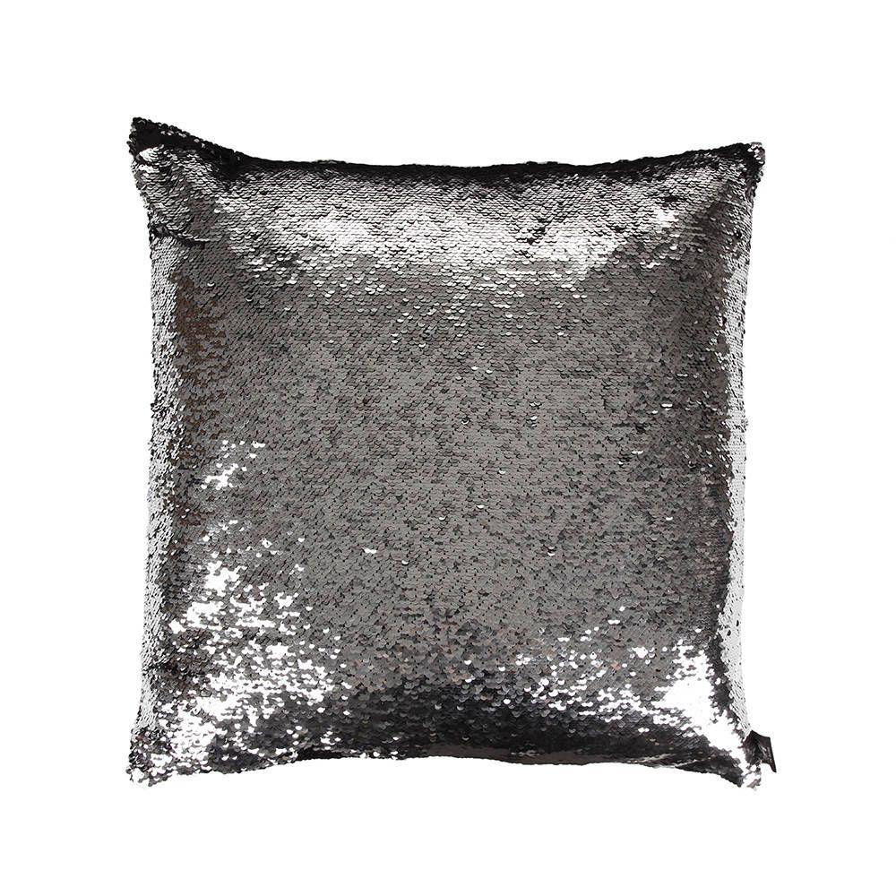 Buy Pack Of 2 Reversible Mermaid Sequin Pillow Black
