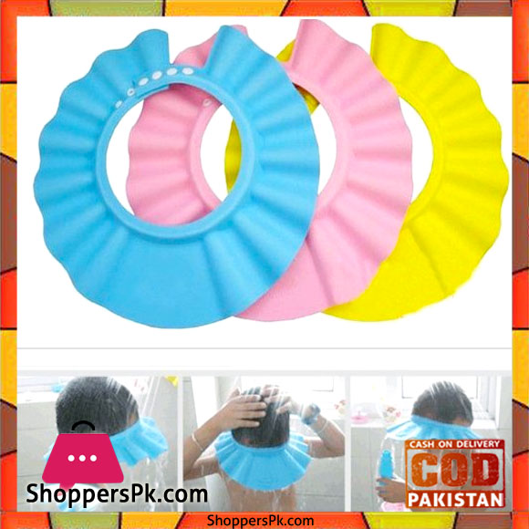 baby bath shower cap wash hair shield one piece shoppers pakistan. Black Bedroom Furniture Sets. Home Design Ideas