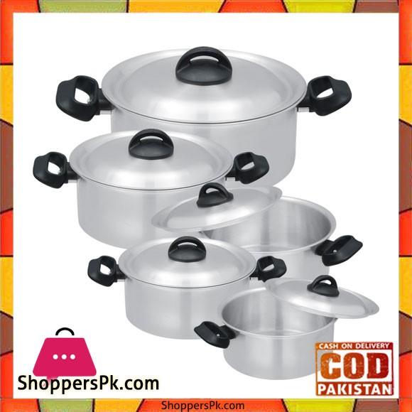 Bravo Bakelite Handle Set – 442   5 Cooking Pots Set