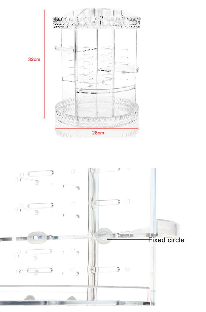 Buy Cosmatic Storage Box 360 Rotation Diamond Pattern At