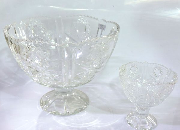 Crystal Fruit Bowls And Ice Cream Set 7 Pieces Q4