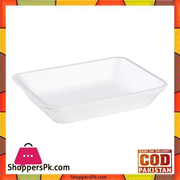 Disposable Foam Tray 100 Pcs - 6.4x4.92x0.78 Inch