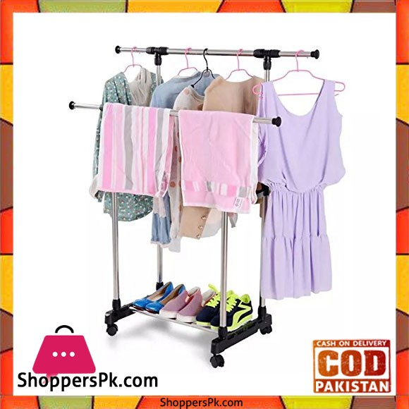 Stainless Steel Double Pole Clothes Hanger DL-202