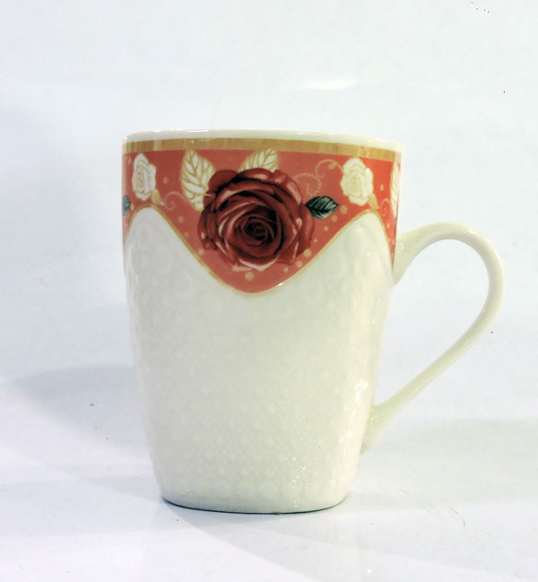 Tea Mug Rose Flower Print Six Pieces Set