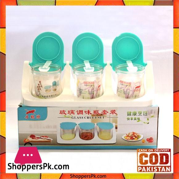 Glass Spice Jar Set