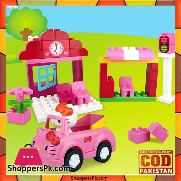 Hello Kitty Block House Set For Kid