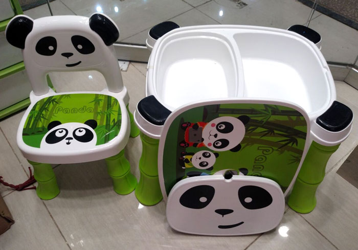 Wondrous A B High Quality Fiber Plastic Panda Chair Table For Kids 8006 Gmtry Best Dining Table And Chair Ideas Images Gmtryco