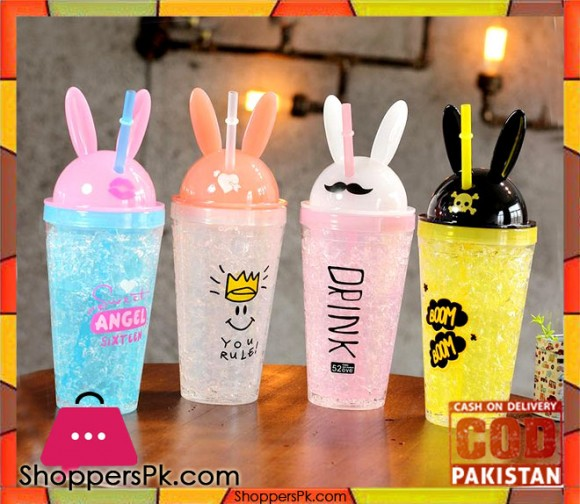 High Quality Plastic Water bottle Lovely Straw One Piece