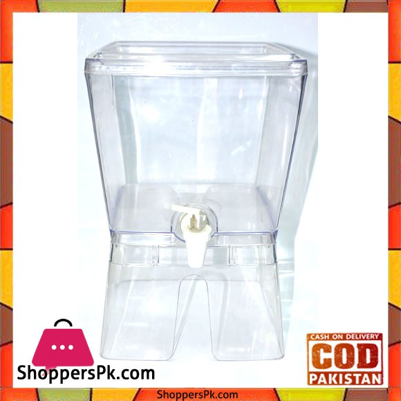 Juice Dispenser Acrylic Plastic 5 Liter Square - Karachi Only