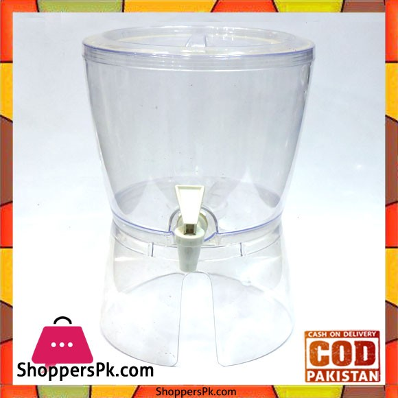 Juice Dispenser Acrylic Plastic 5 Liter Round - Karachi Only