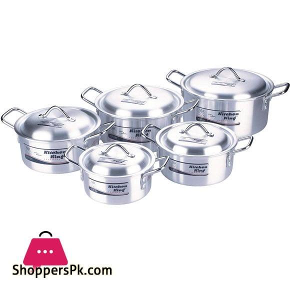 Kitchen King Royal Set Anodized Cooking Pot 2 x 6