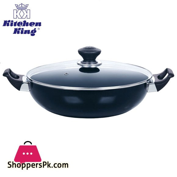 Kitchen King karai Imperial Classic Wok Glass Lid 2.8 Liter – 24cm