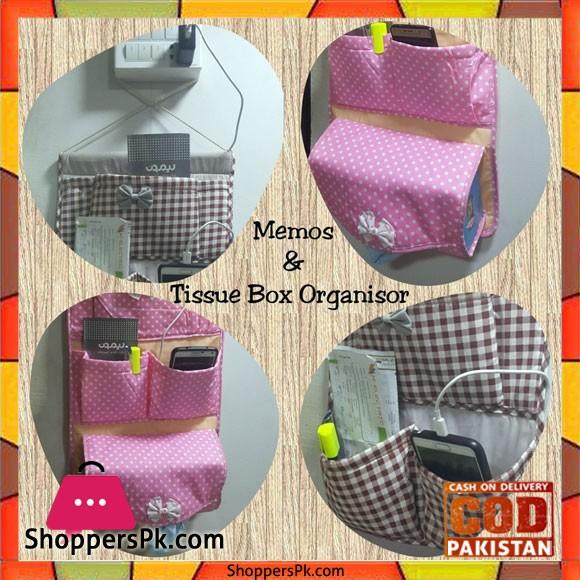 Memos and Tissue Box Organizer