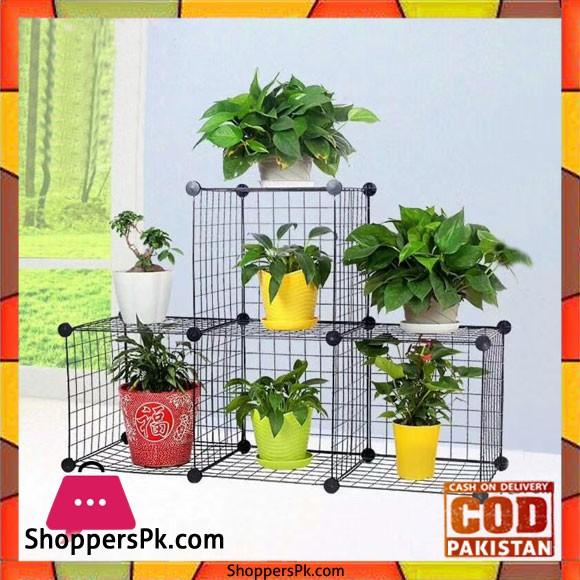 Multi Use DIY Wire 4 Cube Cabinet