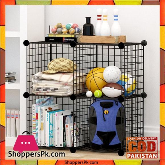 Multi Use DIY Wire 4 Cube Cabinet S12