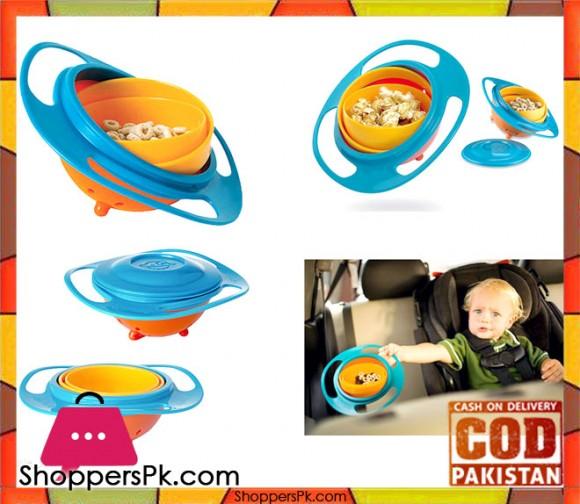 New Toddler Gyro Bowl Non Spill Feeding 360 Rotating For Baby