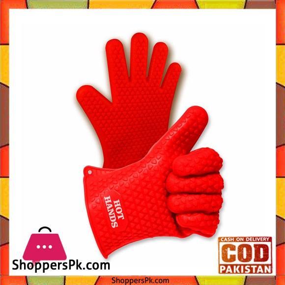 Non-Slip Silicone Cooking Gloves 2 Piece Set