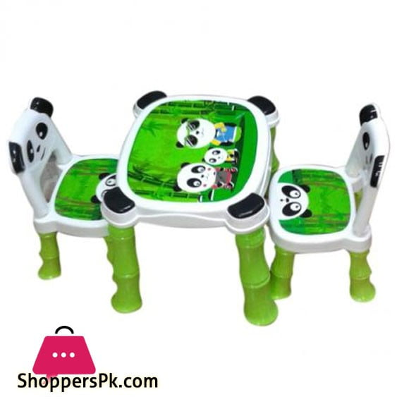 Panda Table Chair Plastic 2 Chair 1 Table