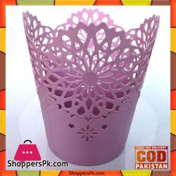 Pink-Flower-Pattern-Small-Dustbins