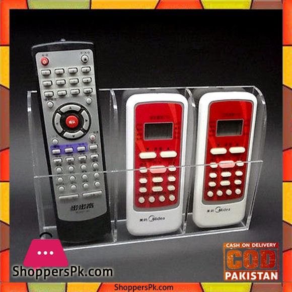 TV Air Conditioner Remote Control Holder Case Wall Mount Three Box Pattern
