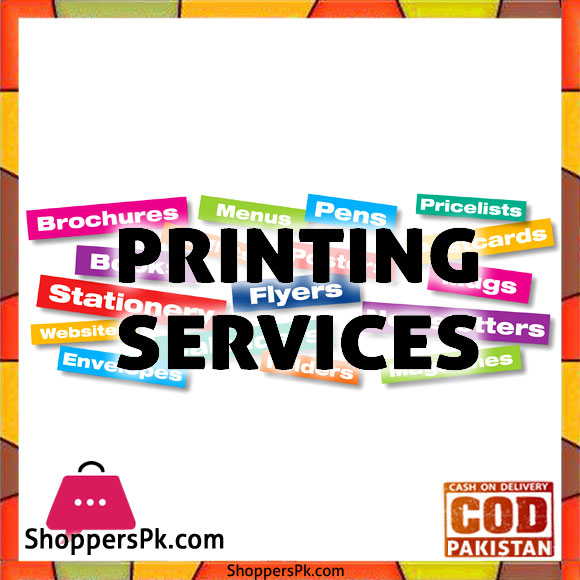 Printing Services Price in Pakistan